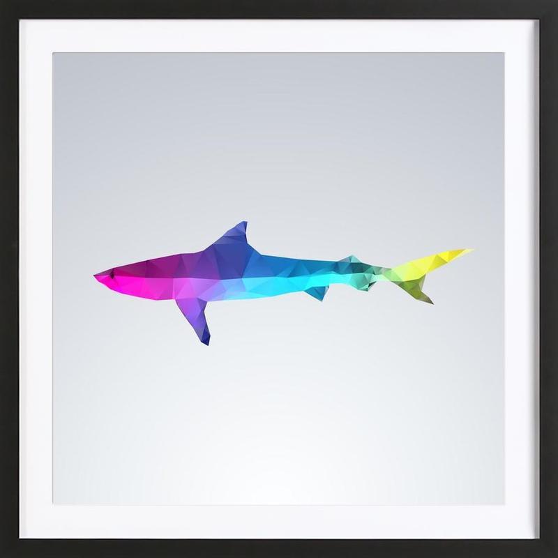 Glass Animals - Shark -Bild mit Holzrahmen