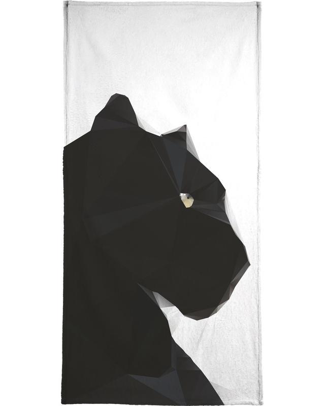 Black Panther Geo Bath Towel