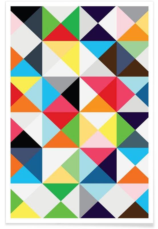 Patterns, Geometric morning Poster