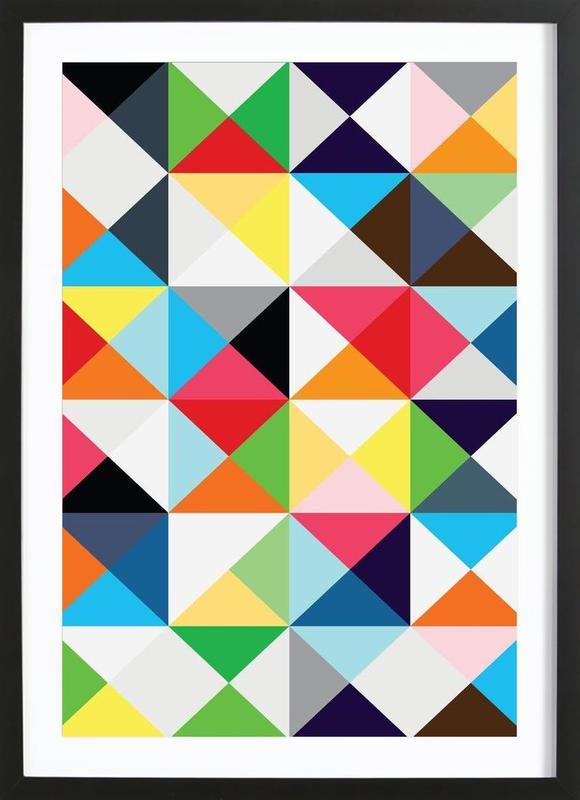 Geometric morning Framed Print