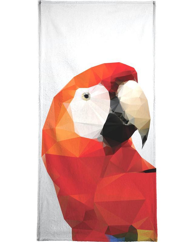 Geo Parrot Red serviette de bain