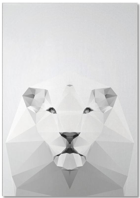 Geo White Lion Notepad