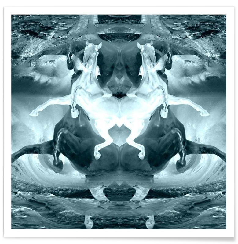 Paysages abstraits, Pale horses affiche