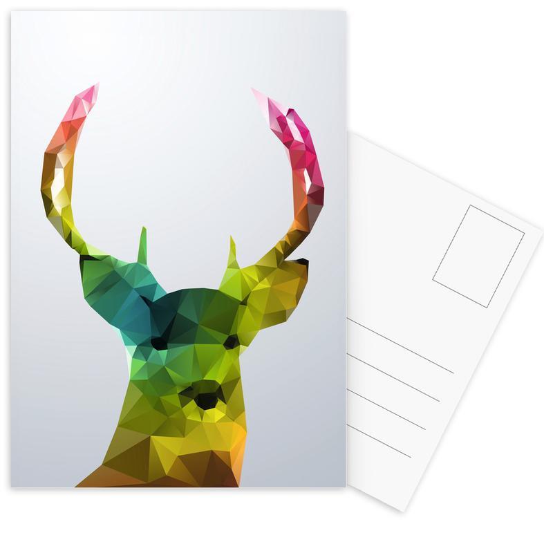 Crystal Deer Postcard Set