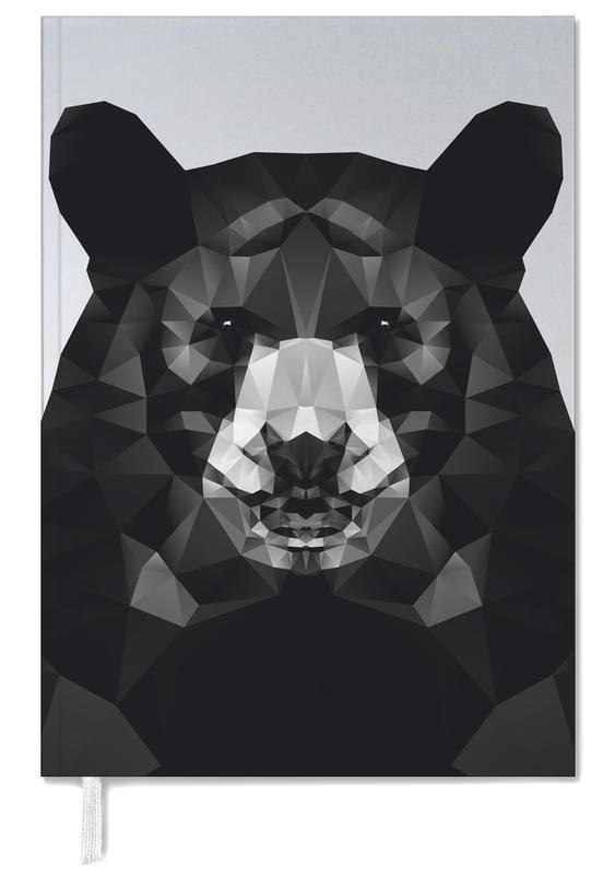 Bären, Schwarz & Weiß, Geo Black Bear -Terminplaner