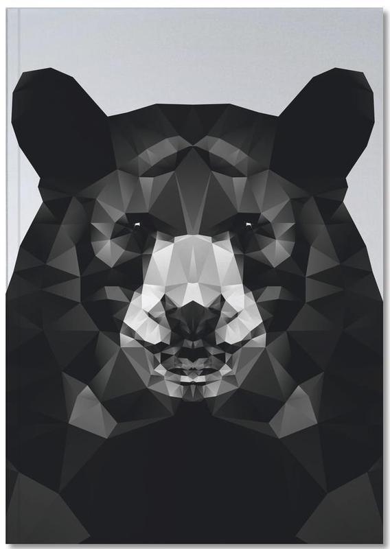 Ours, Noir & blanc, Geo Black Bear Notebook