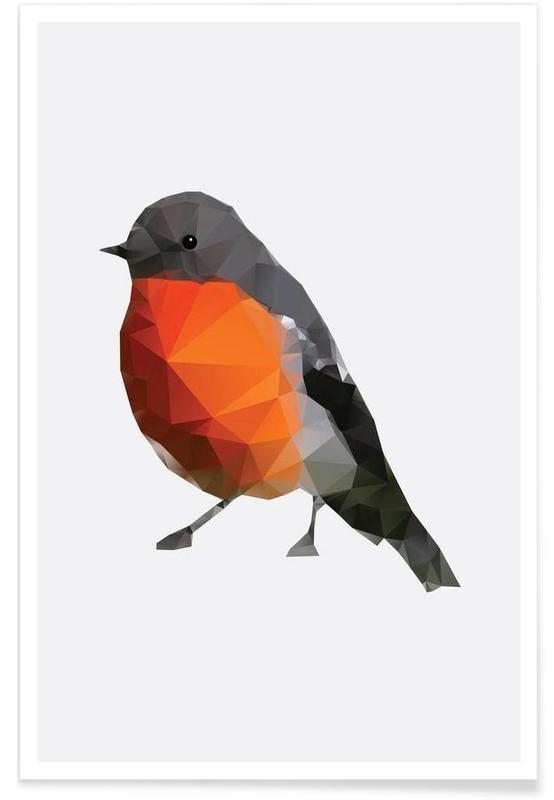 Geometric Robin Poster