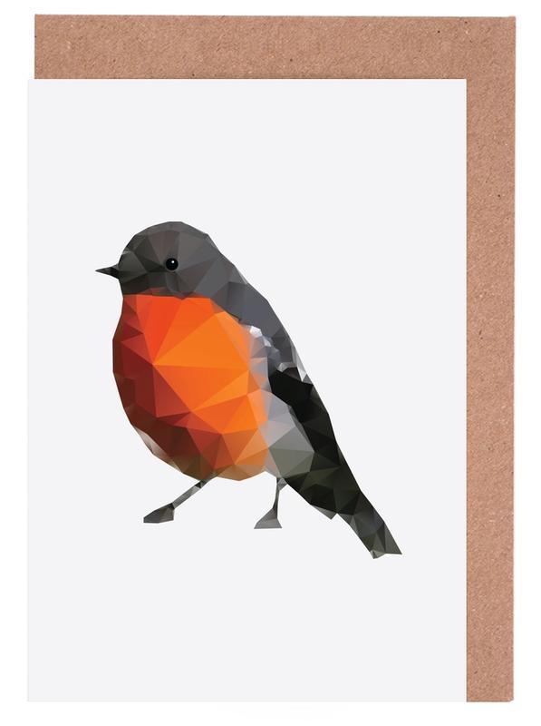 Geo Robin -Grußkarten-Set