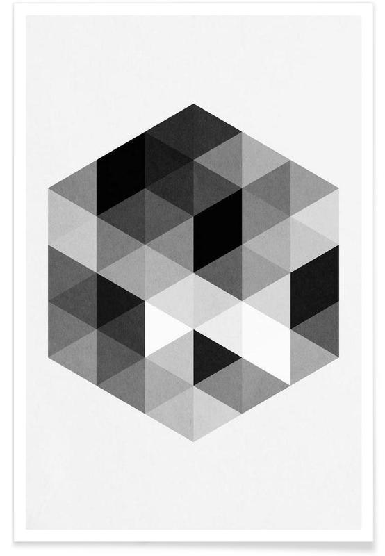 Noir & blanc, Geo Hex affiche