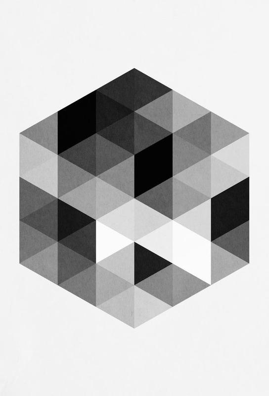 Geo Hex -Acrylglasbild