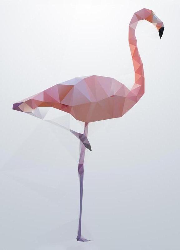 Flamingo -Leinwandbild