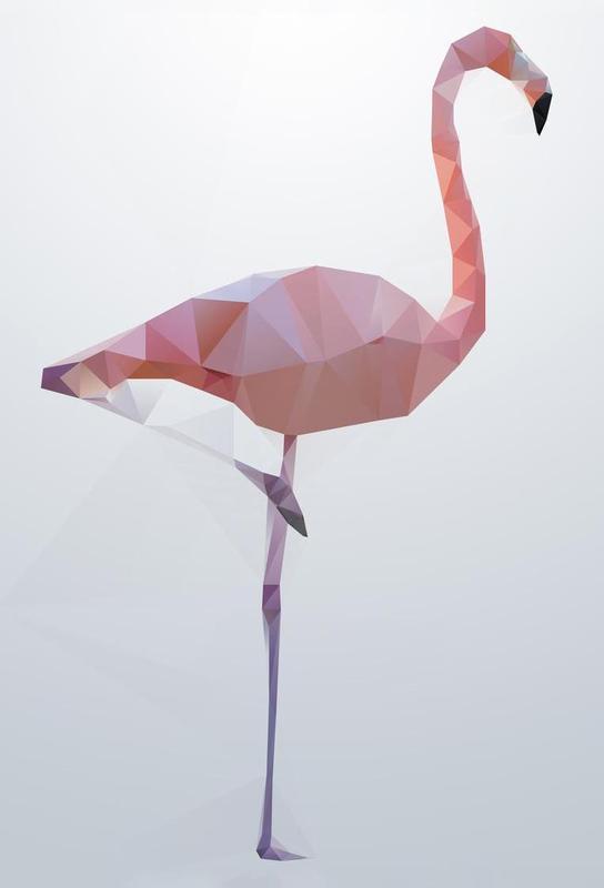 Flamingo -Acrylglasbild