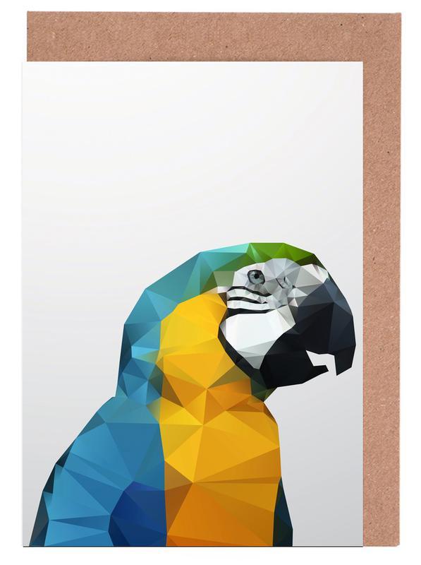 Geo Parrot -Grußkarten-Set