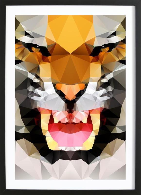 Geo Tiger Framed Print