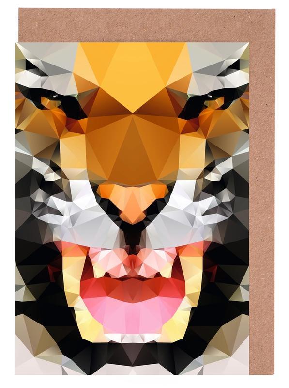 Geo Tiger Greeting Card Set