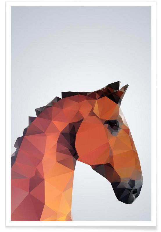 Chevaux, Cheval géométrique affiche