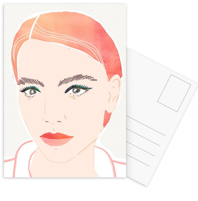 Girl With Red Hair -Postkartenset