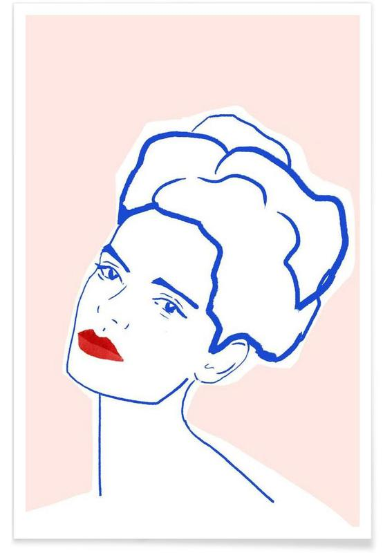 Girl With Red Lips affiche