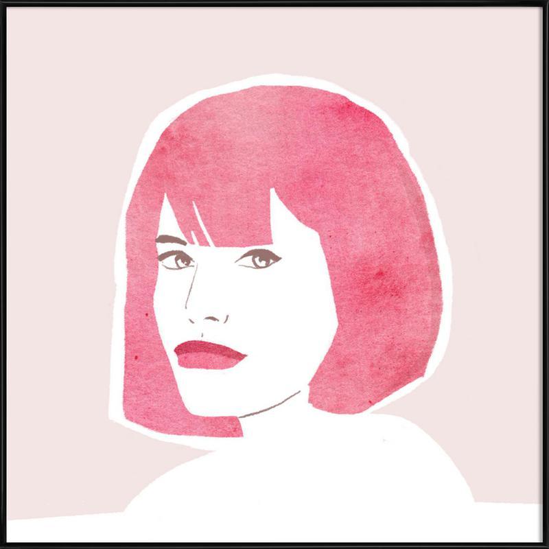 Pink Hair Girl ingelijste poster
