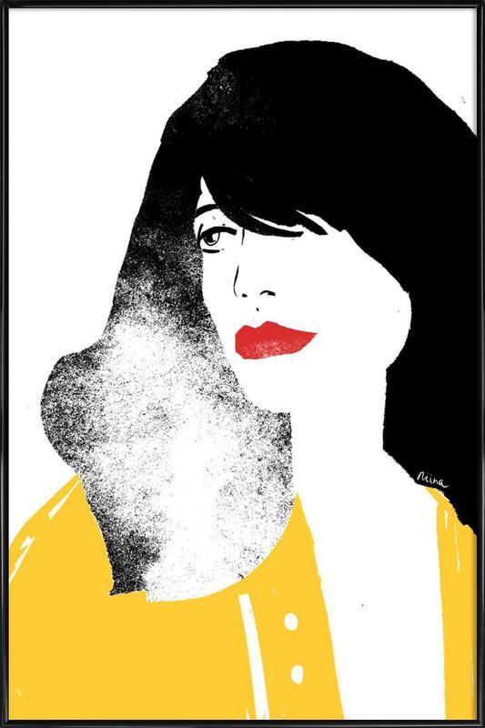 French Girl -Bild mit Kunststoffrahmen