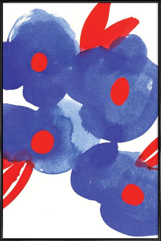 Flowers 006 -Bild mit Kunststoffrahmen