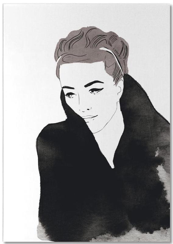 Modeillustration, Lady In Black -Notizblock