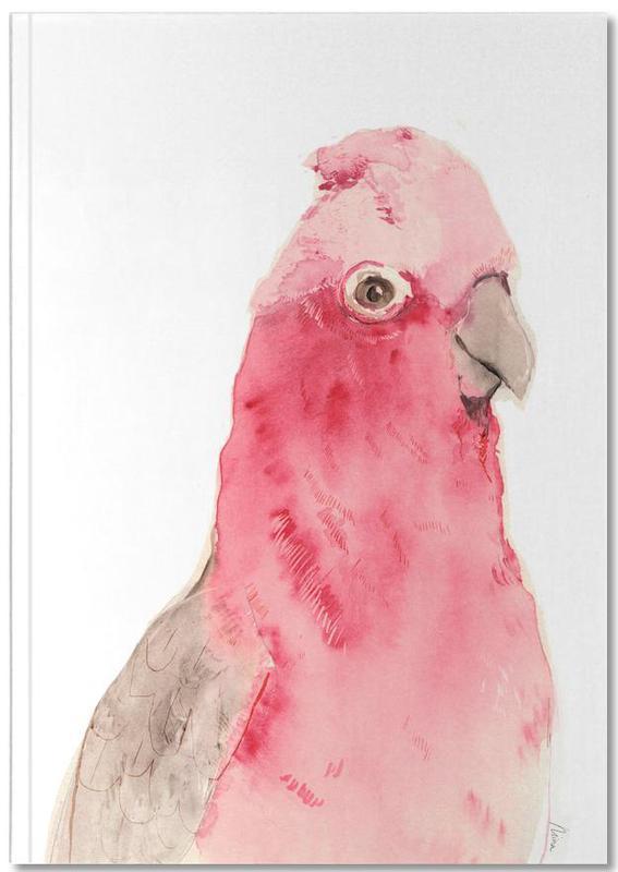 Parrots, Pink Parrot Notebook