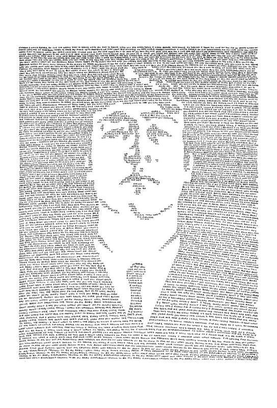 John tableau en verre