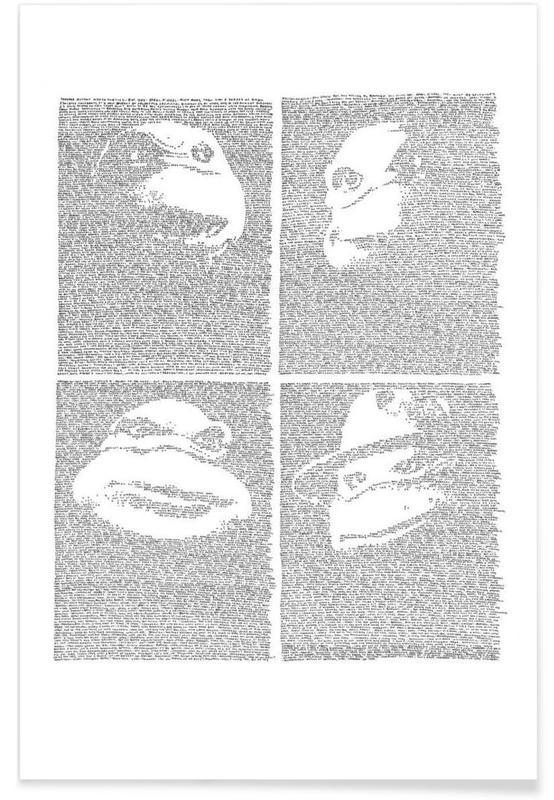 Black & White, Movies, TV Shows, Teenage Mutant Ninja Turtles Poster
