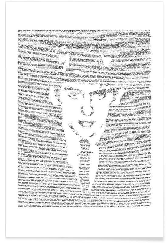 Zwart en wit, The Beatles, George poster