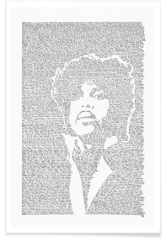 Zwart en wit, Rock, Prince poster