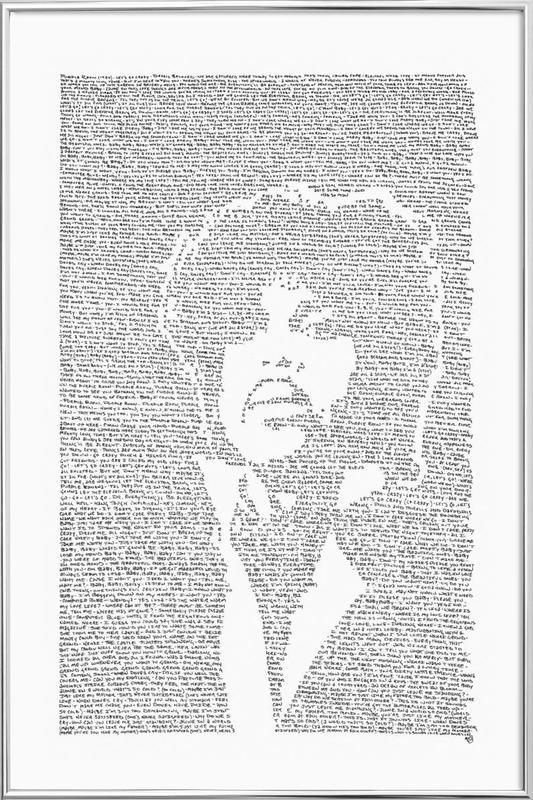 Prince affiche sous cadre en aluminium