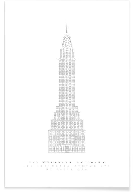 Plan du Chrysler Building affiche