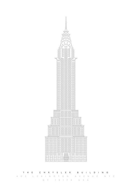 The Chrysler Building -Alubild