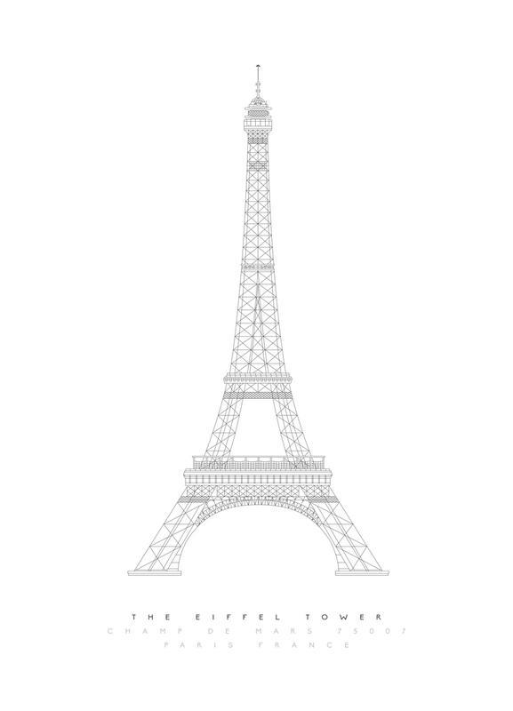 The Eiffel Tower -Leinwandbild