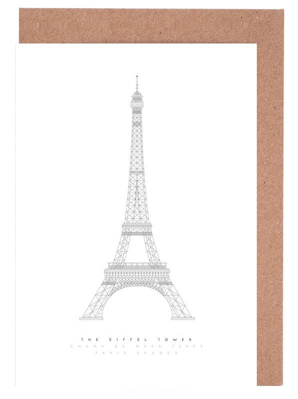 Paris, The Eiffel Tower Greeting Card Set