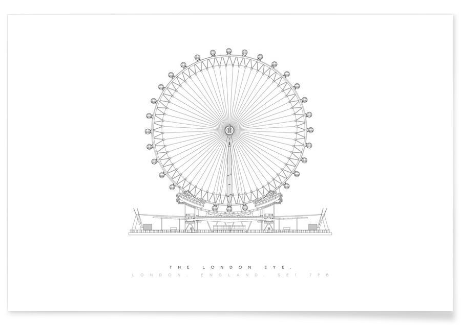 London Eye-Entwurf -Poster