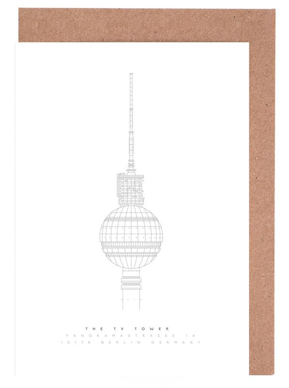 Berlin, The TV Tower Greeting Card Set