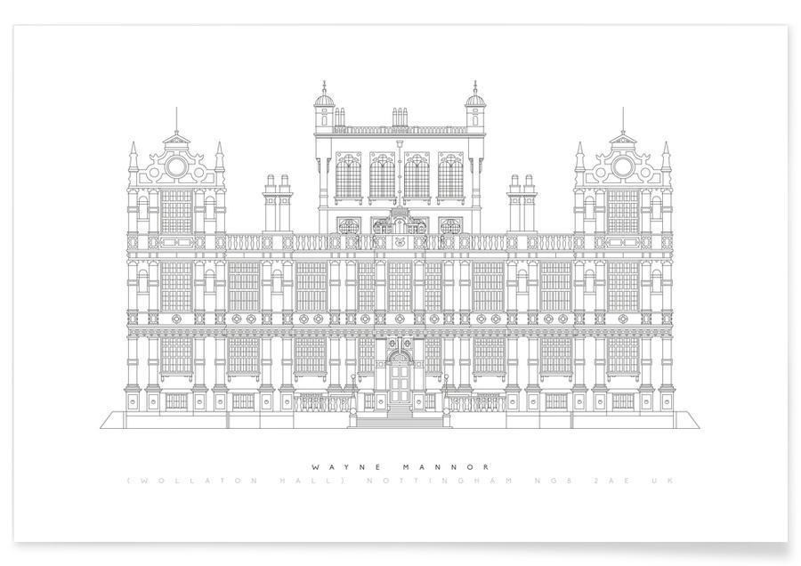Wayne Manor-Entwurf -Poster