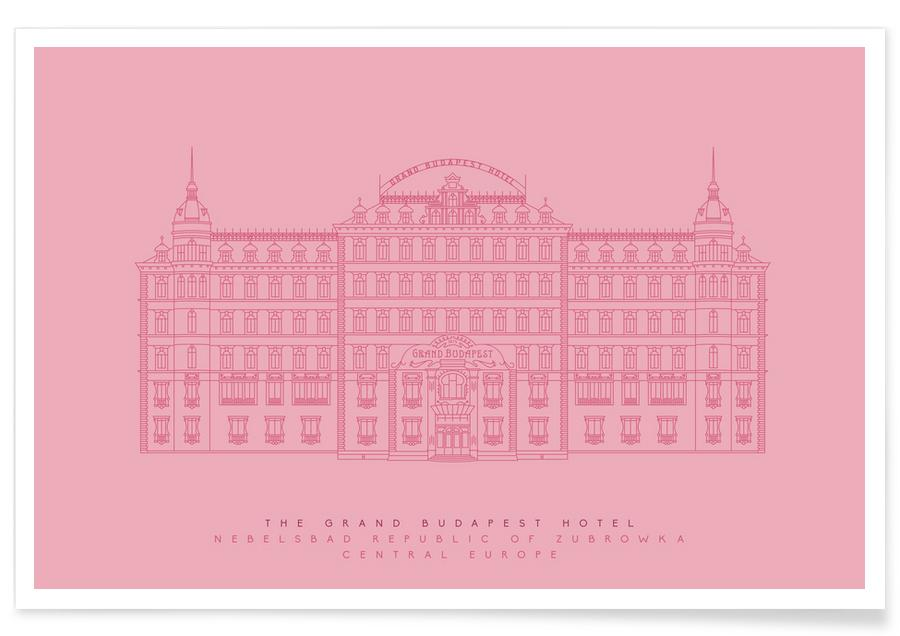 The Grand Budapest Hotel-Pink-Entwurf -Poster