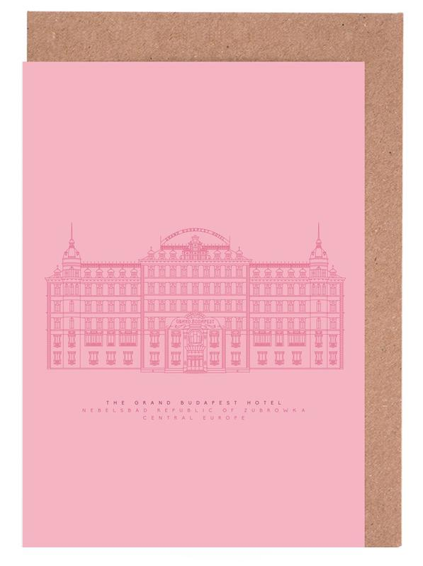 Films, The Grand Budapest Hotel Pink cartes de vœux