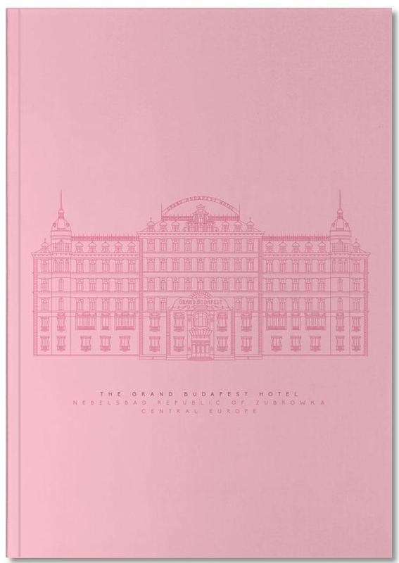 The Grand Budapest Hotel Pink Notebook