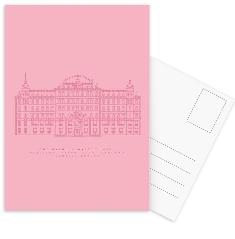 The Grand Budapest Hotel Pink Postcard Set