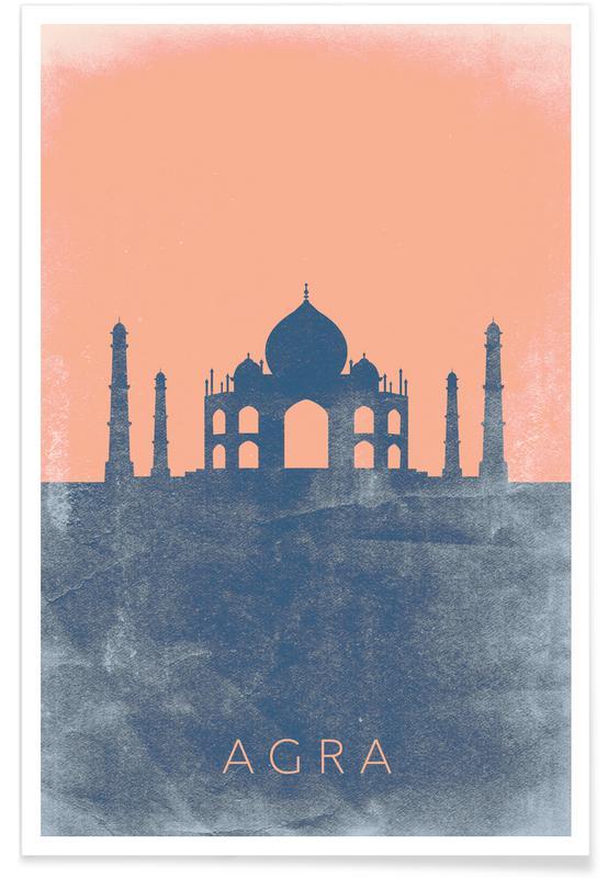 Plan du Taj Mahal affiche