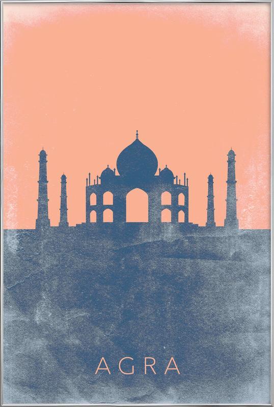 Agra -Poster im Alurahmen