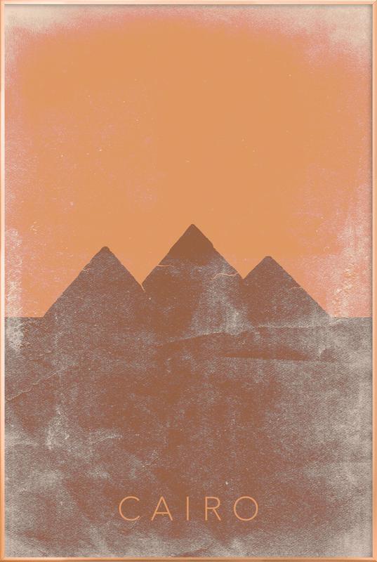 Cairo -Poster im Alurahmen