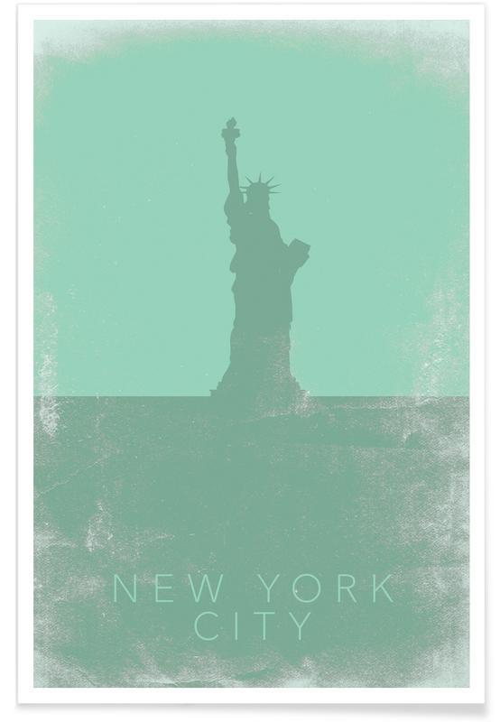 Voyages, Monuments et vues, New York, Plan de la statue de la Liberté affiche