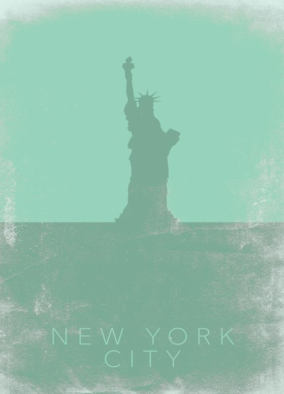 New York City canvas doek