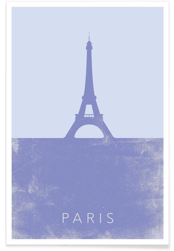 Paris, Sights & Landmarks, Travel, Eiffel Tower Minimalist Poster