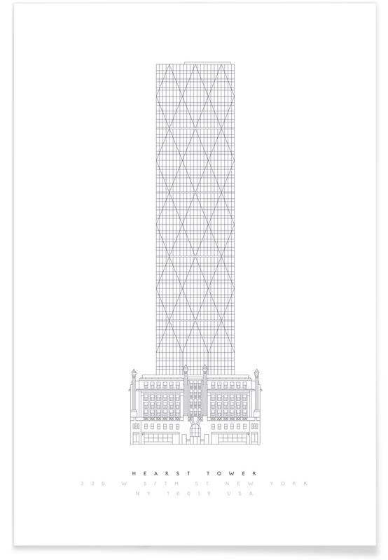Hearst Tower-Entwurf -Poster